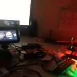 Der Videomonitor mit Livebild